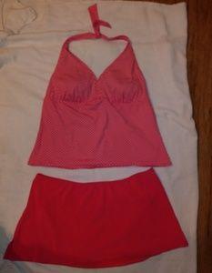 Lands end 2 piece tankini bathing suit